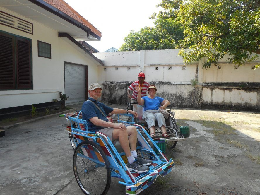 Ernie and Jan on holiday in Indonesia